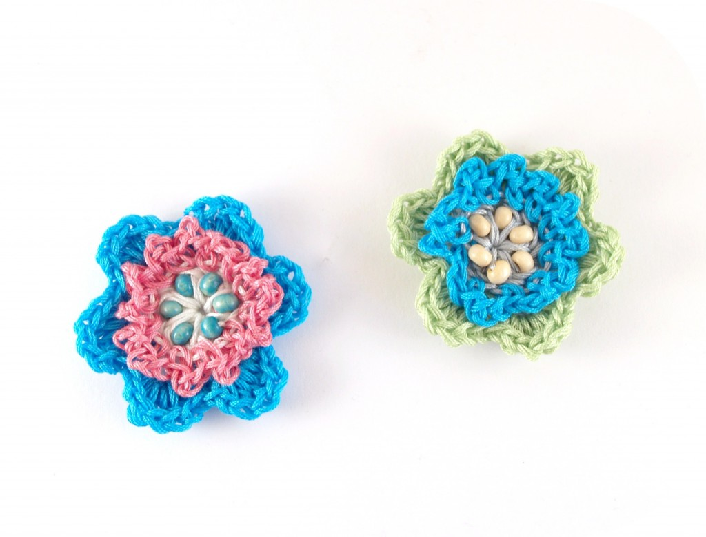 Blüten mit Perlen