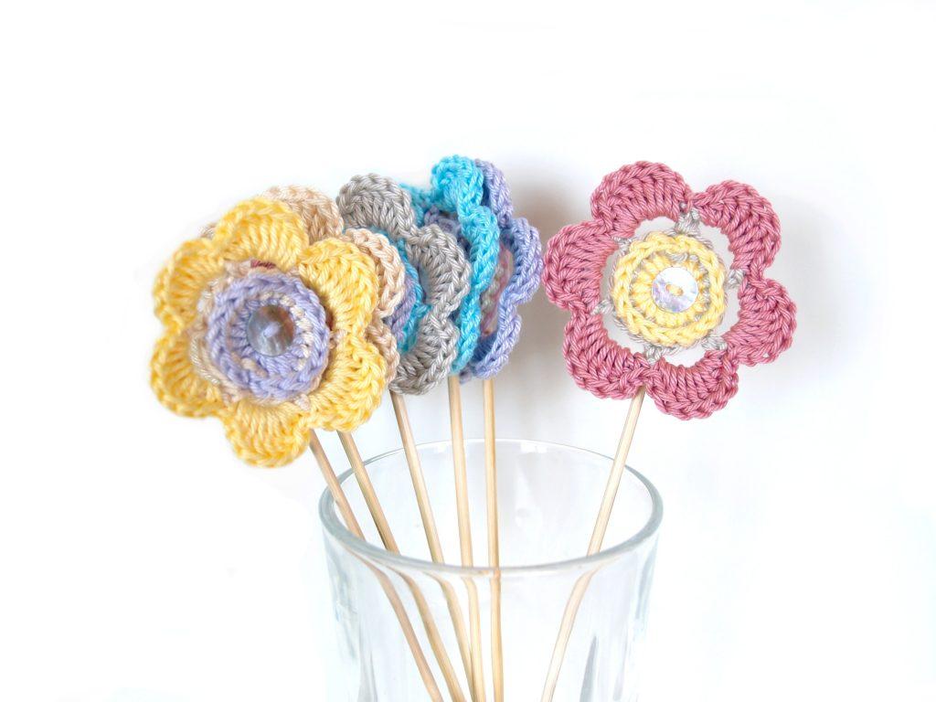Häkelblüten Lollipop
